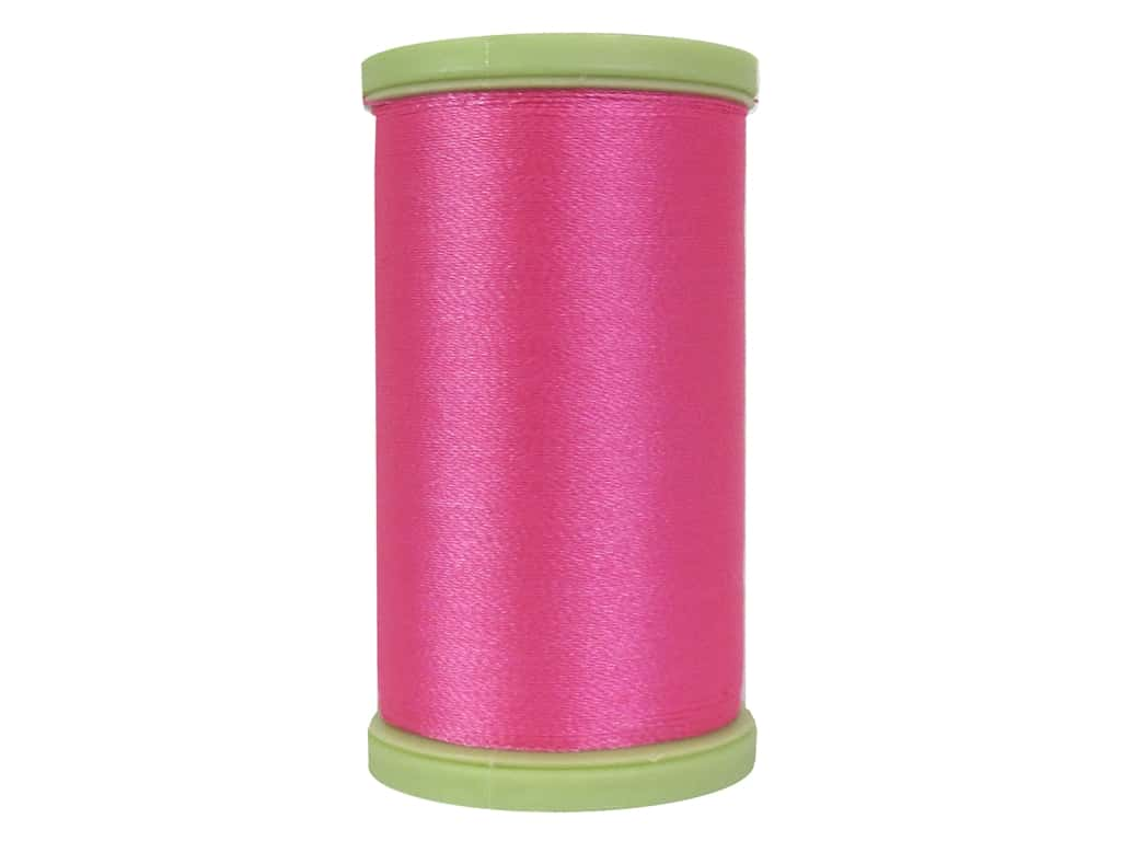 Coats Trilobal Polyester Embroidery Thread  600 yd. #9213 Neon Pink
