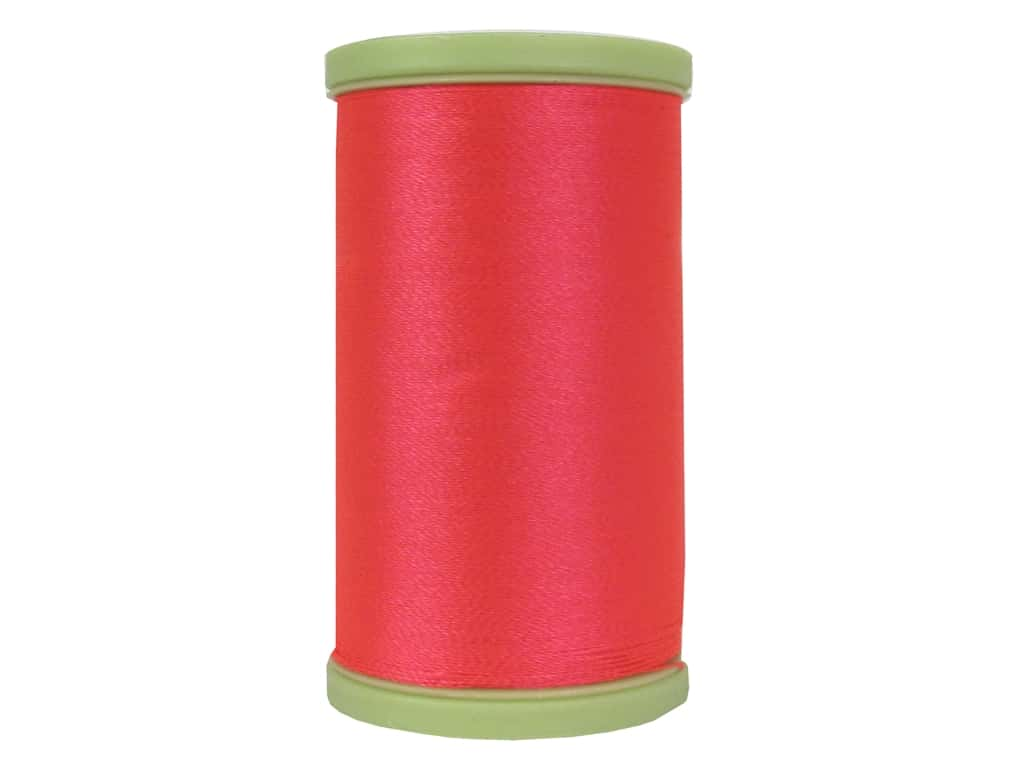 Coats Trilobal Polyester Embroidery Thread  600 yd. #9214 Neon Coral