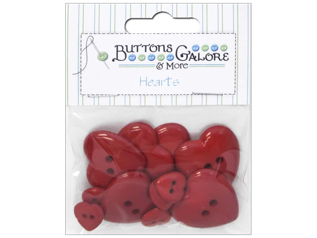 Buttons Galore Theme Button Red Hearts