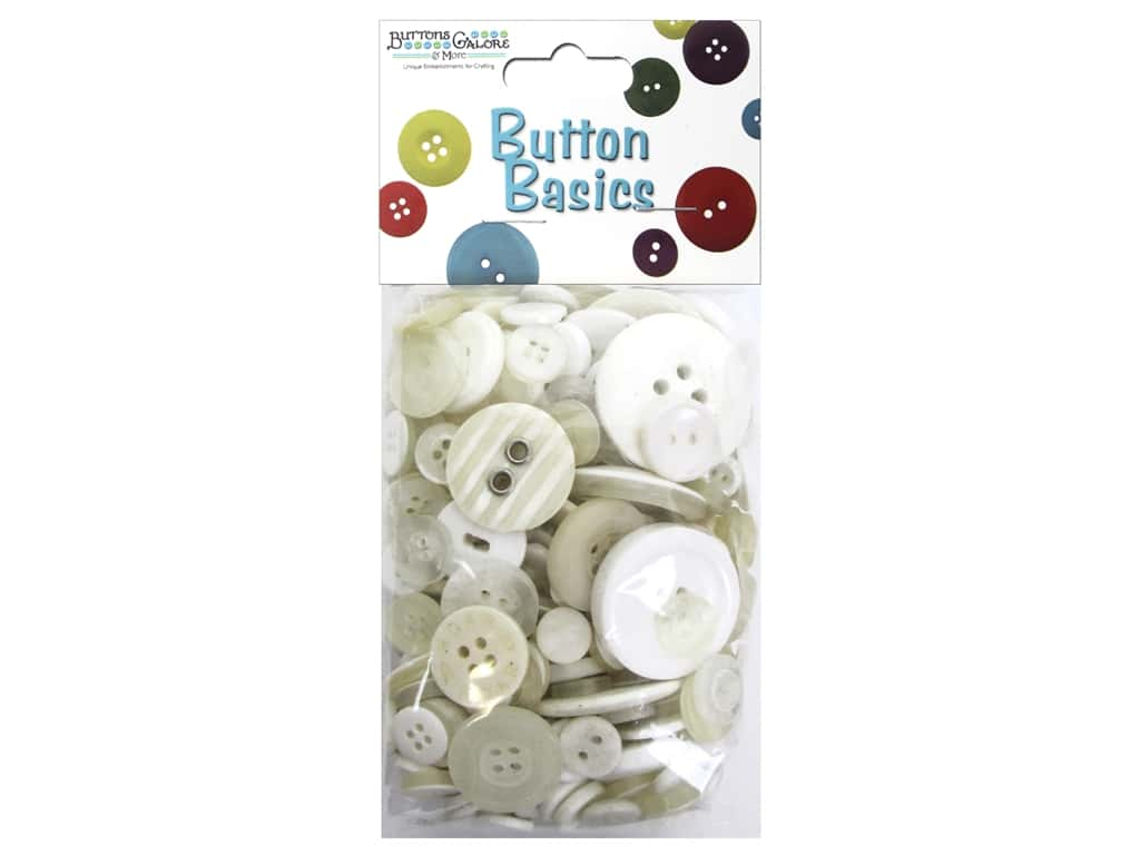 Buttons Galore Button Candy Bags 5.5 oz. White Wash