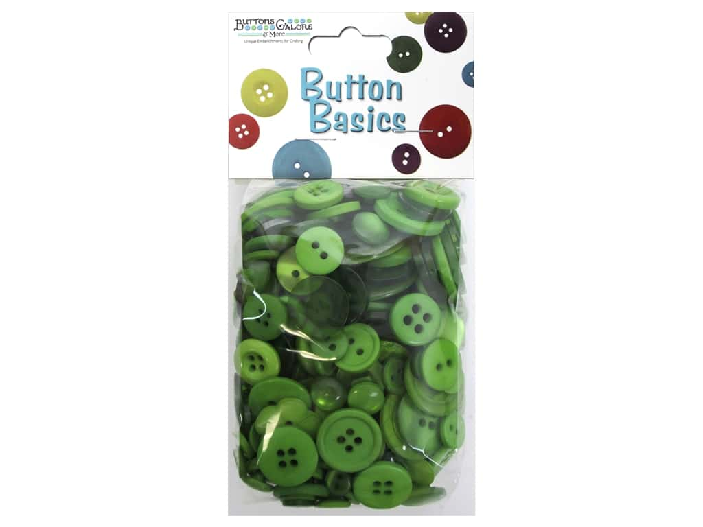 Buttons Galore Button Candy Bags 5.5 oz. Kelly Green