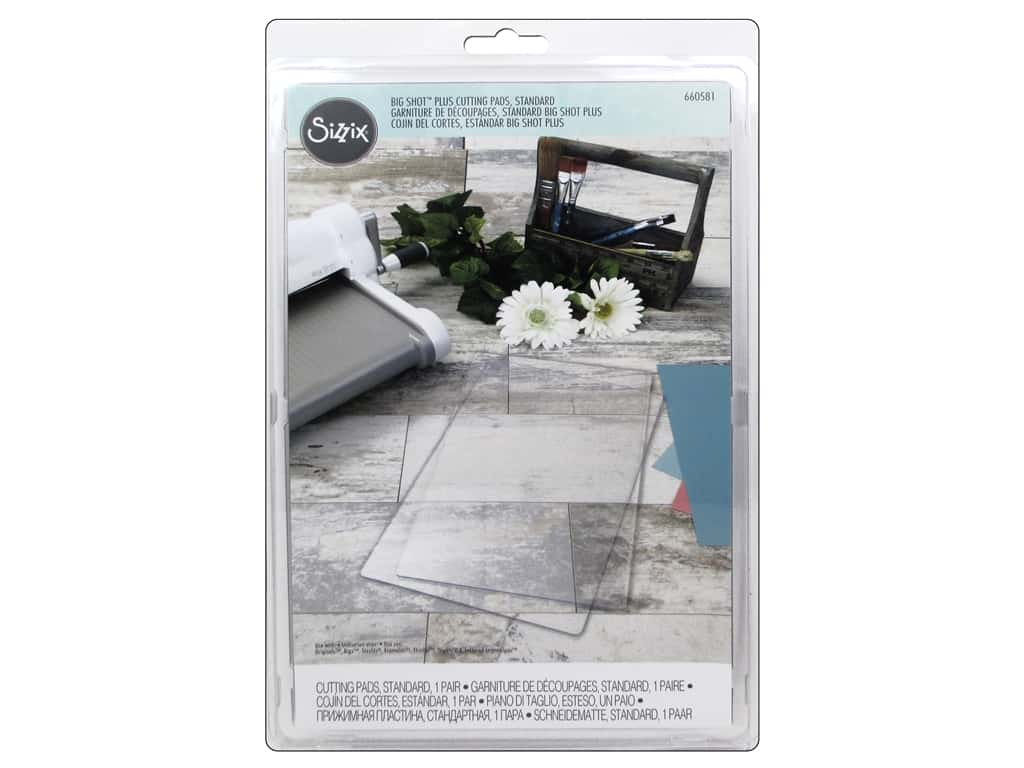 Sizzix Big Shot Plus Cutting Pad Standard 2 pc. Clear