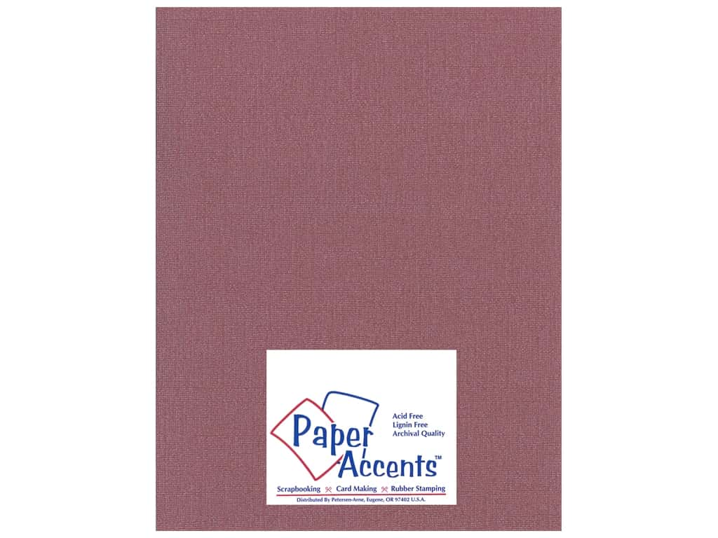 Paper Accents Cardstock 8 1/2 x 11 in. #22206 Glimmer Cranberry Zing 25 pc.