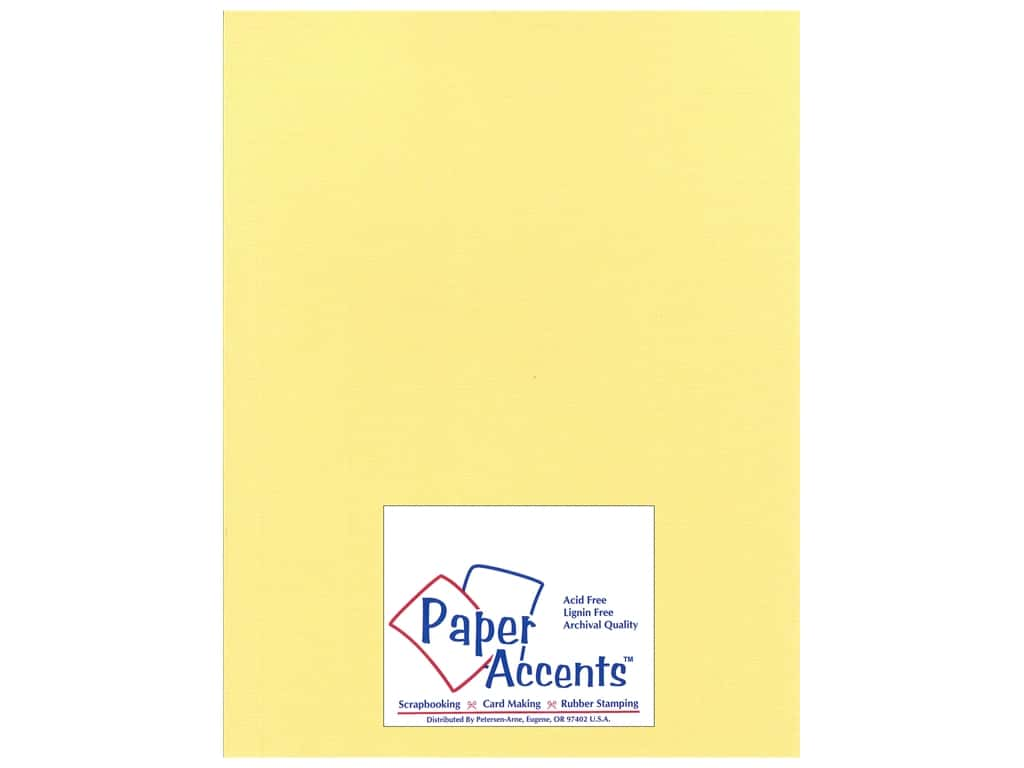 Paper Accents Cardstock 8 1/2 x 11 in. #24404 Glimmer Sunglow 25 pc.