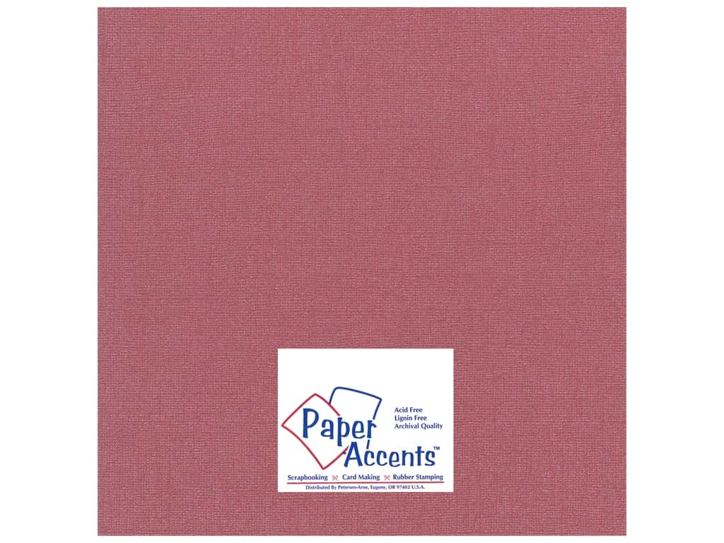 Paper Accents Cardstock 12 x 12 in. Glimmer Exotic Red 25 pc.