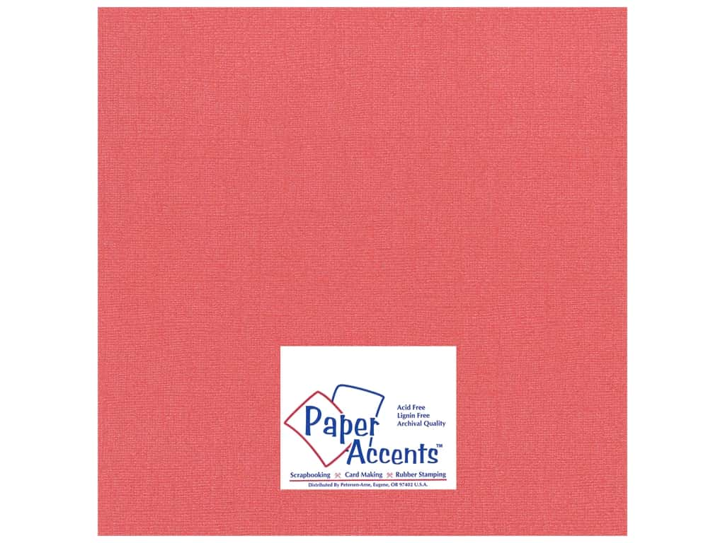 Paper Accents Cardstock 12 x 12 in. #22203 Glimmer Imperial Red (25 sheets)