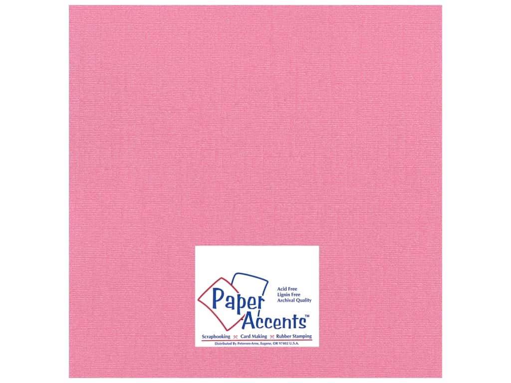 Paper Accents Cardstock 12 x 12 in. #21104 Glimmer Frosty Pink 25 pc.