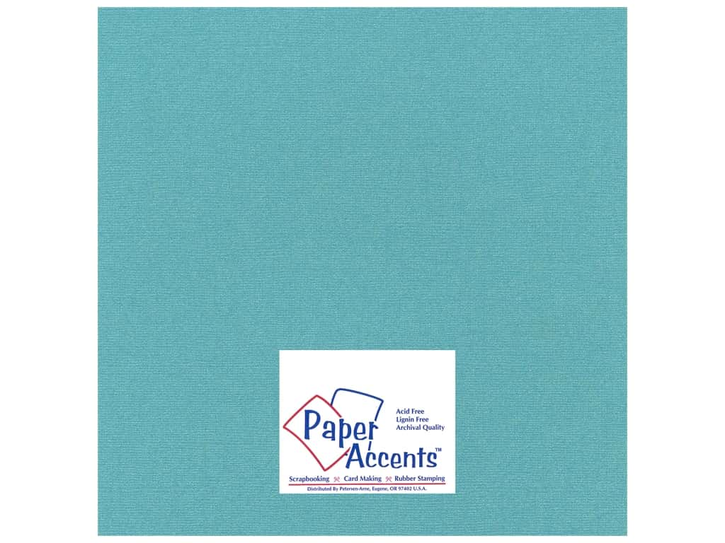 Paper Accents Cardstock 12 x 12 in. #27709 Glimmer Tropical Bay 25 pc.