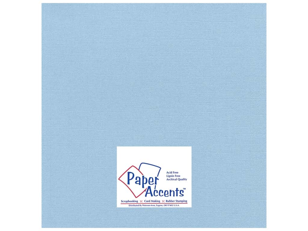 Paper Accents Cardstock 12 x 12 in. #27710 Glimmer Soft Blue 25 pc.