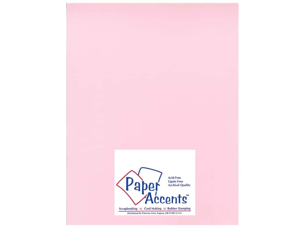 Paper Accents Cardstock 8 1/2 x 11 in. #11101 Heavyweight Smooth Ballerina Pink 25 pc.