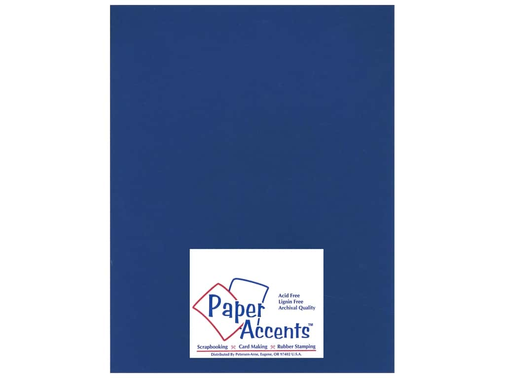 Paper Accents Cardstock 8 1/2 x 11 in. #17707 Heavyweight Smooth Deep Blue (25 sheets)