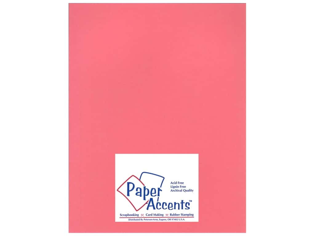 Paper Accents Cardstock 8 1/2 x 11 in. #11102 Heavyweight Smooth Rose Chintz 25 pc.