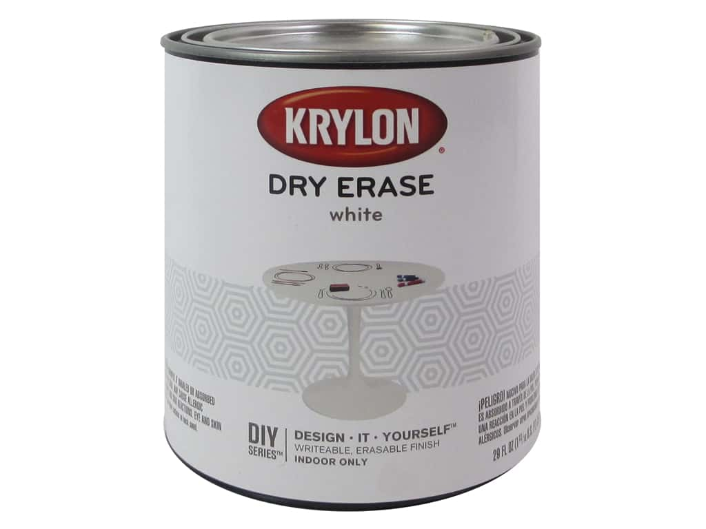 Krylon Dry Erase Paint 29 oz. Brush-On White
