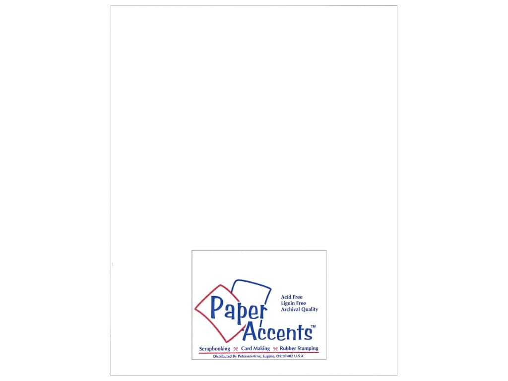 Paper Accents Cardstock 8 1/2 x 11 in. #1101003 Heavyweight Smooth White Smoke 25 pc.