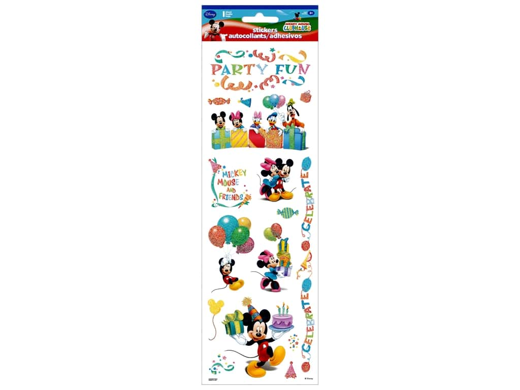 SandyLion Sticker Clear Disney Mickey Party