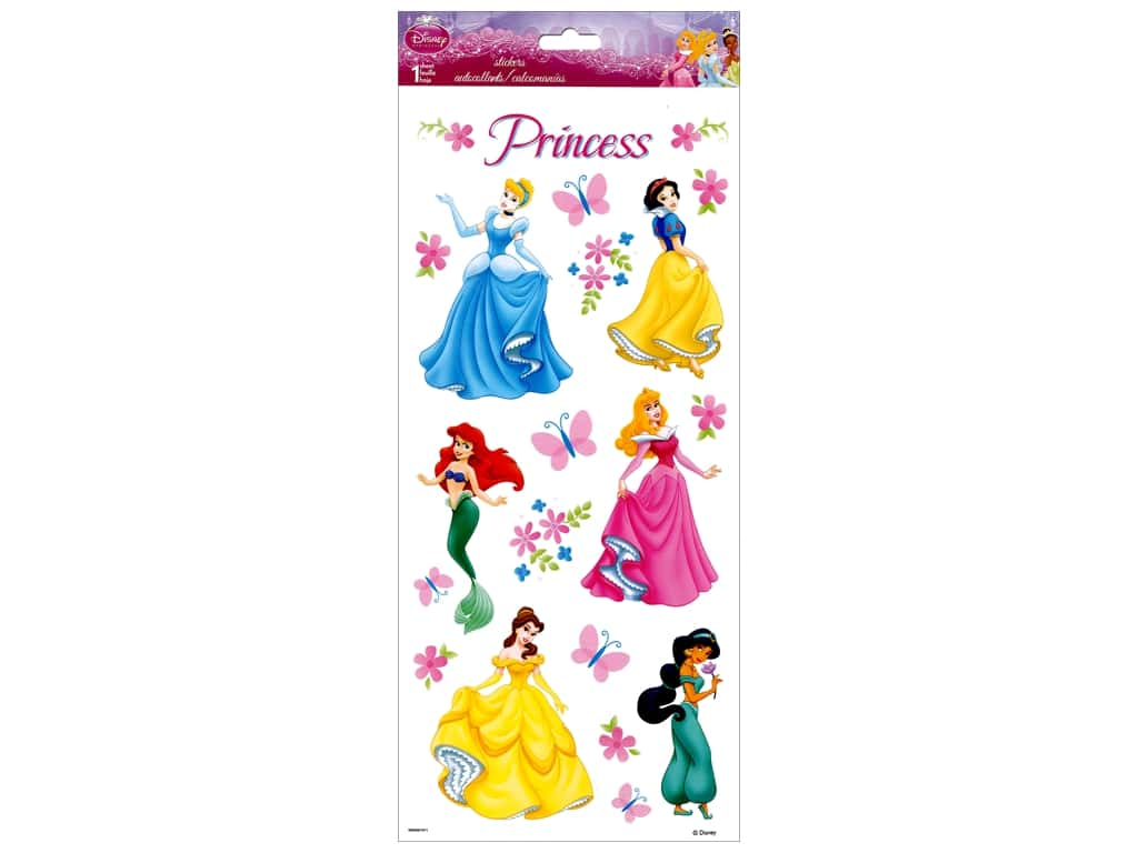SandyLion Sticker Clear Disney Princess Dream