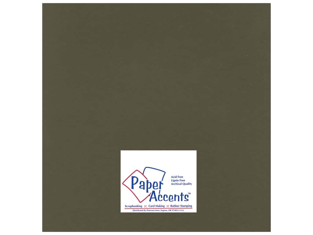 Paper Accents Cardstock 12 x 12 in. #19901 Heavyweight Smooth Dark Molasses 25 pc.
