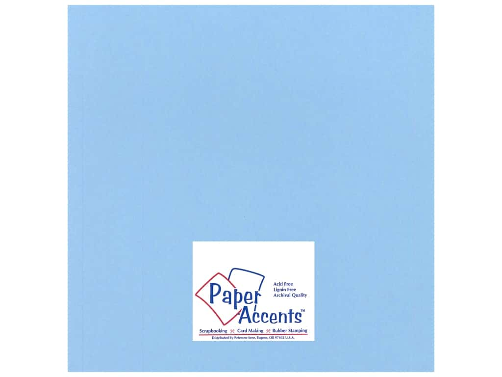 Paper Accents Cardstock 12 x 12 in. #17705 Heavyweight Smooth Moonstone Blue 25 pc.