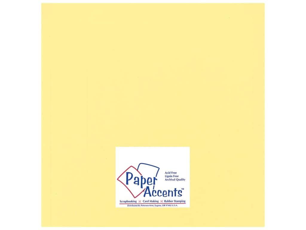Paper Accents Cardstock 12 x 12 in. #14401 Heavyweight Smooth Wildflower Honey 25 pc.