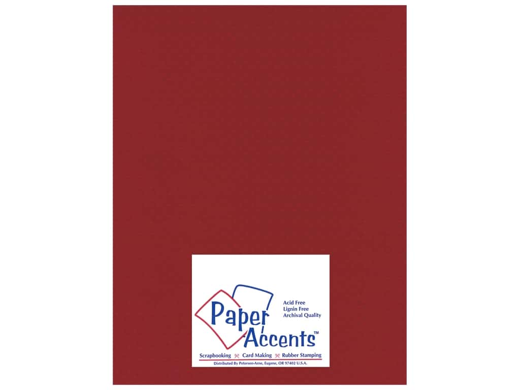 Paper Accents Cardstock 8 1/2 x 11 in. #32207 Mini Dot Crimson Beauty 25 pc.