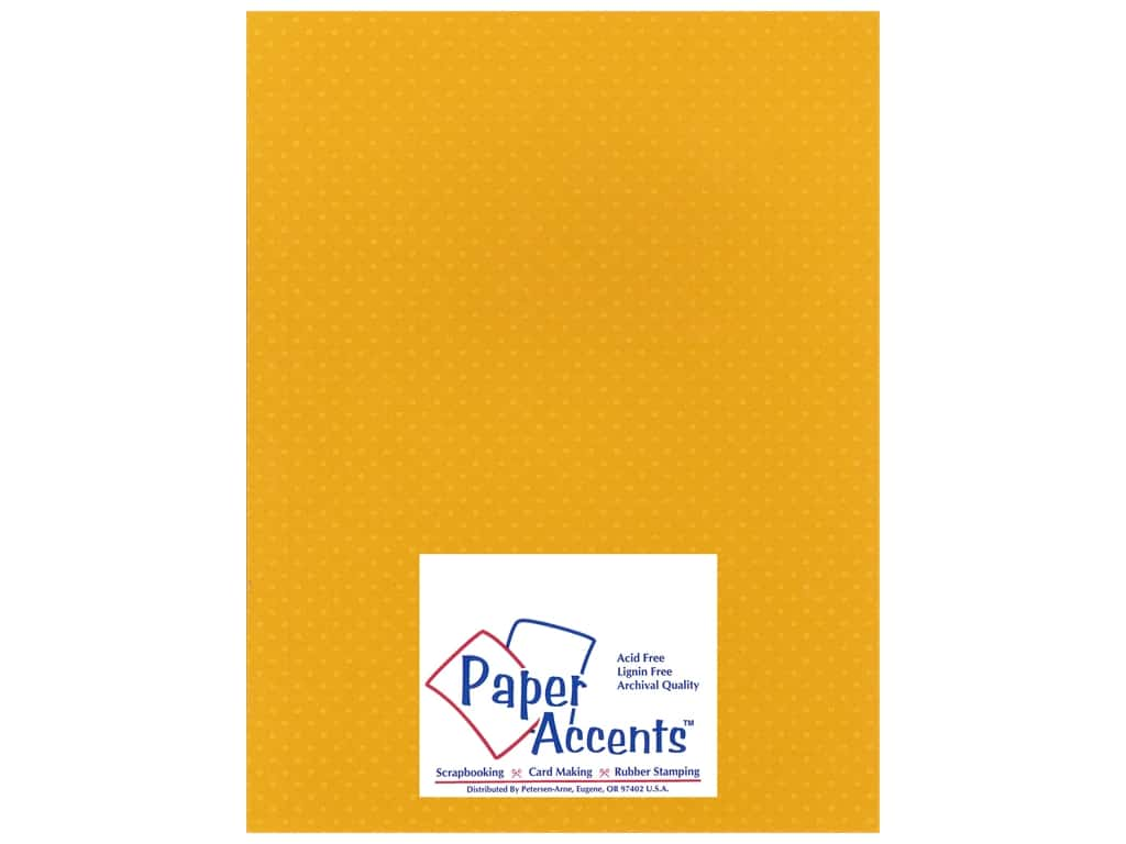 Paper Accents Cardstock 8 1/2 x 11 in. #34408 Mini Dot Gold Zinnia 25 pc.
