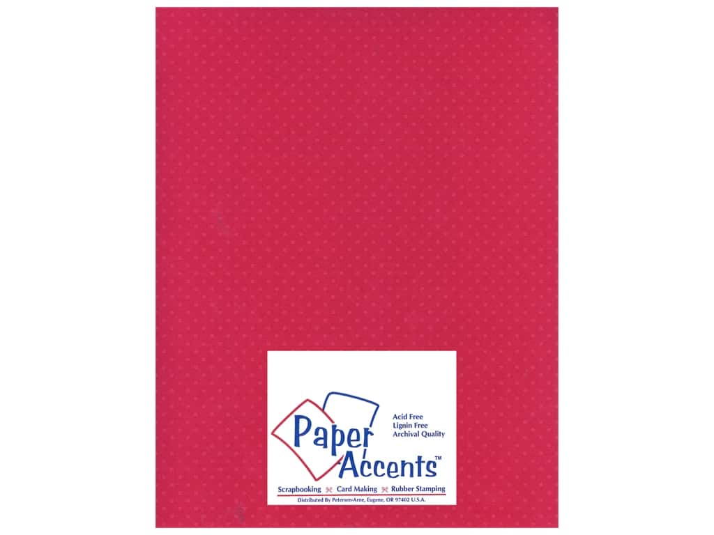 Paper Accents Cardstock 8 1/2 x 11 in. #31107 Mini Dot Rose Heather