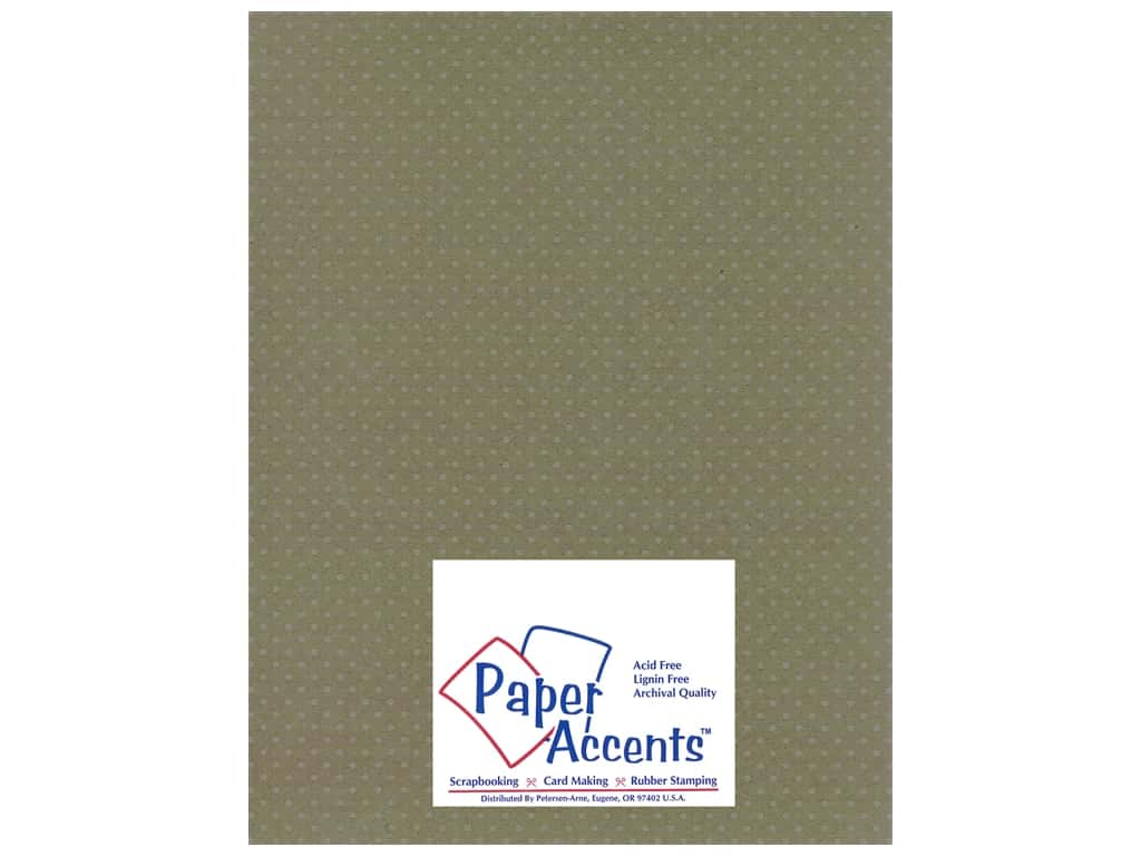 Paper Accents Cardstock 8 1/2 x 11 in. #3101009 Mini Dot Silver Lupine