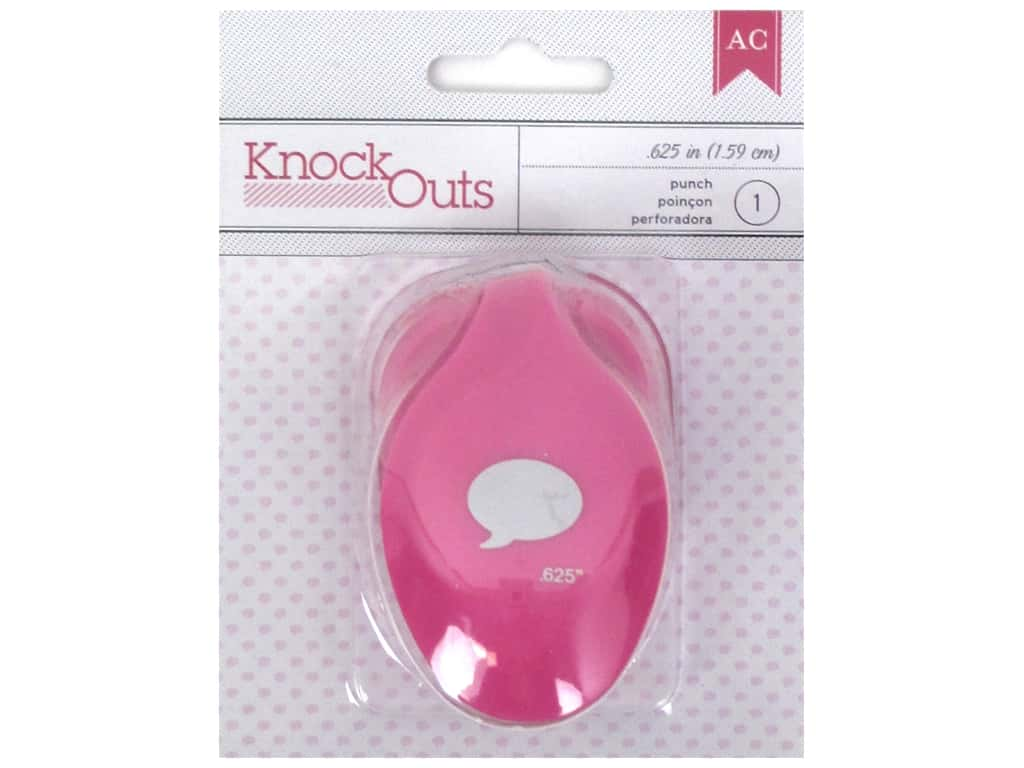 American Crafts Knock Outs Punch 5/8 in. Word Bubble