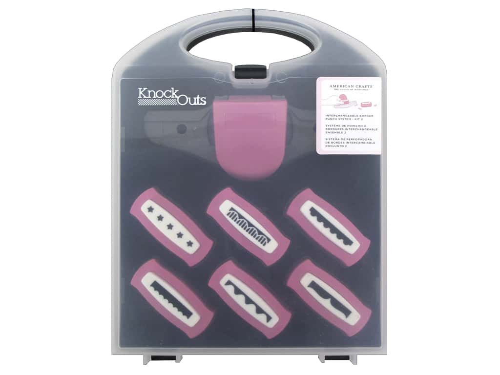 American Crafts Knock Outs Border Punch Value Kit #2