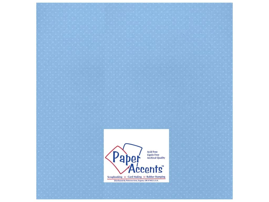 Paper Accents Cardstock 12 x 12 in. #37716 Mini Dot Bluebells 25 pc.