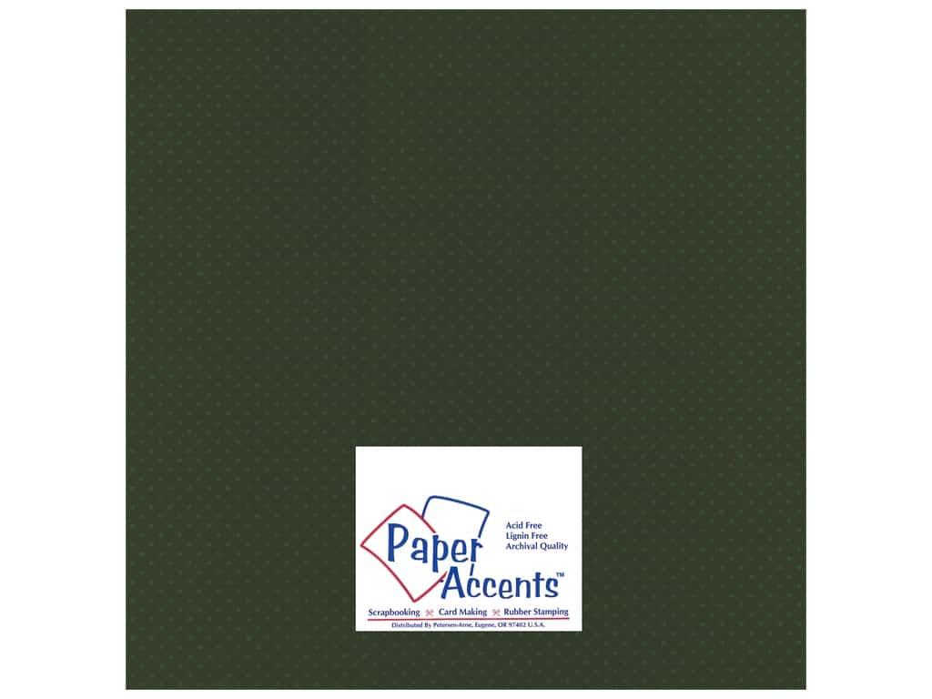 Paper Accents Cardstock 12 x 12 in. #35513 Mini Dot Boxwood 25 pc.