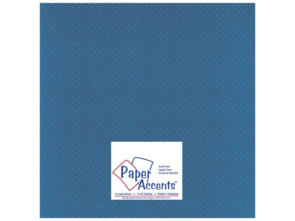 Paper Accents Cardstock 12 x 12 in. #37717 Mini Dot Delphinium 25 pc.