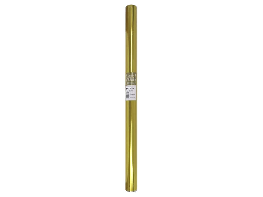 Cello Wrap 30 in. x 100 ft. Solid Yellow
