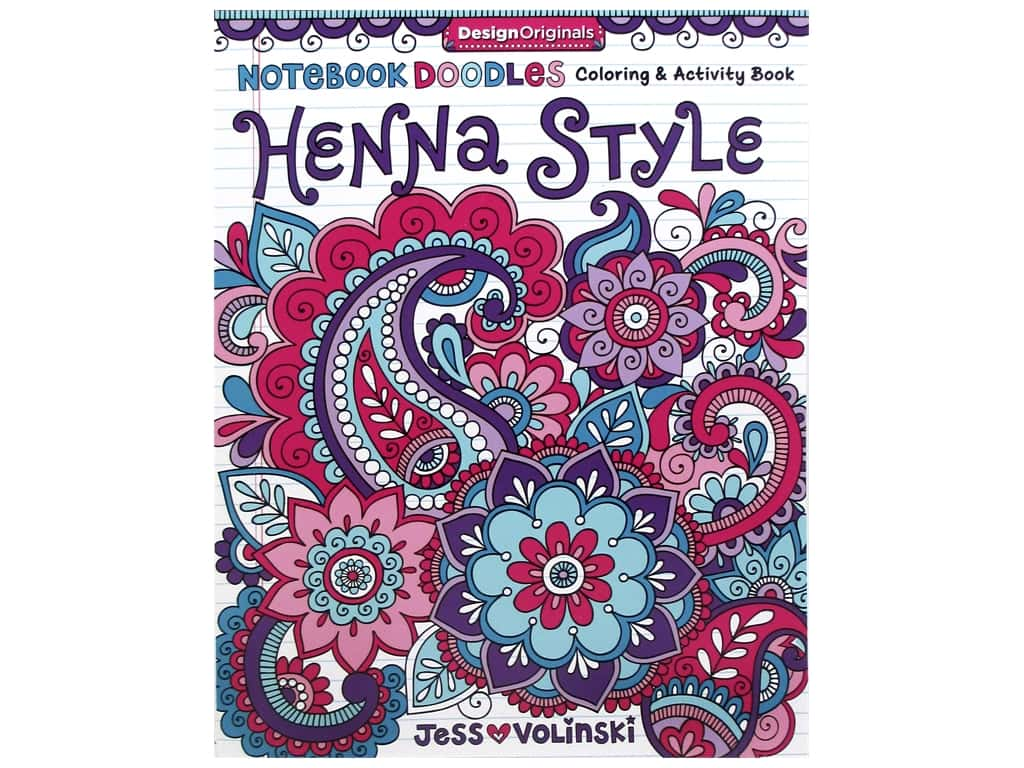 Design Originals Notebook Doodles Henna Style Coloring Book