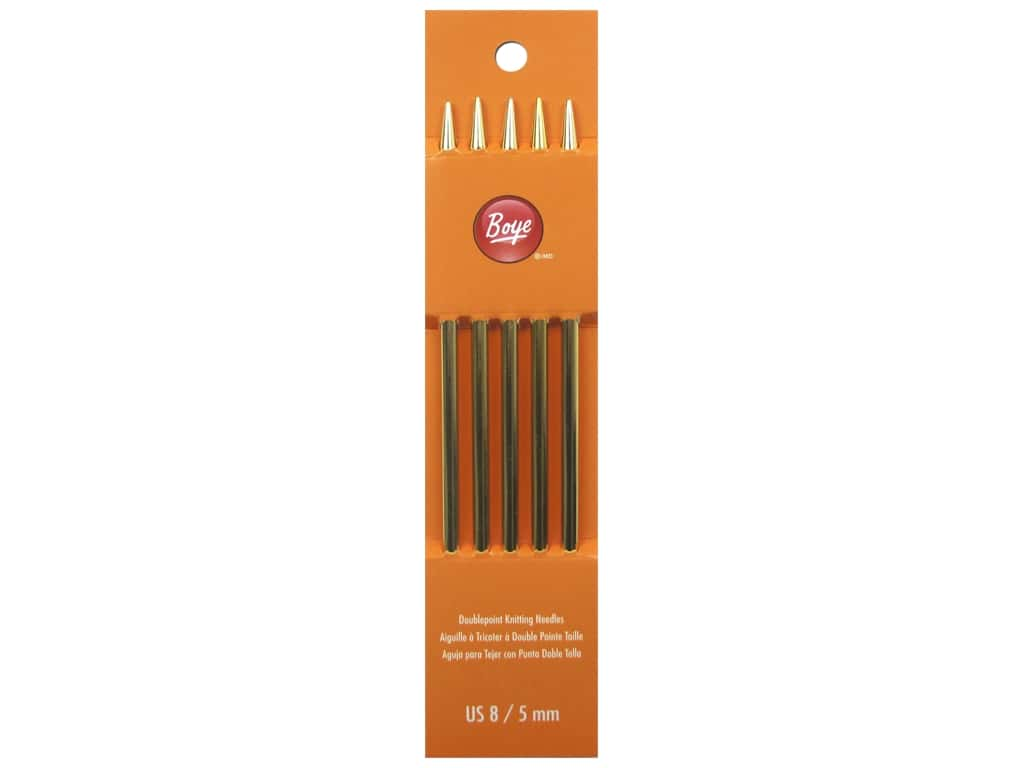 Boye Double Point Knitting Needles Aluminum 7 in. Size 8 (5.0 mm)
