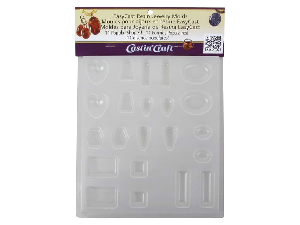 Castin'Craft Reusable Mold Jewelry 11 Shapes