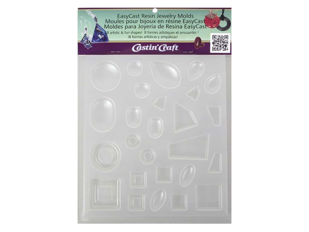 Castin'Craft Reusable Mold Jewelry 8 Shapes