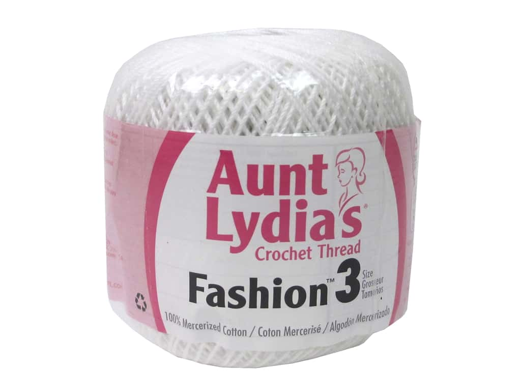 Aunt Lydia's Fashion Crochet Thread Size 3 150 yd. #201 White