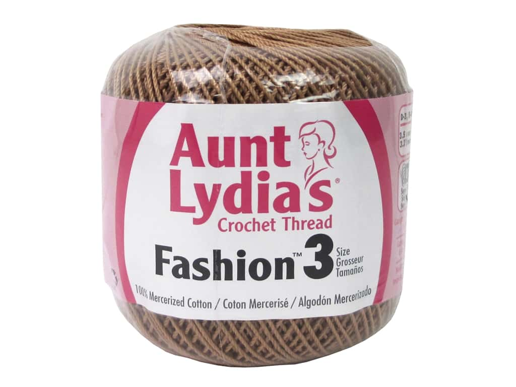 Aunt Lydia's Fashion Crochet Thread Size 3 150 yd. #31 Copper Mist