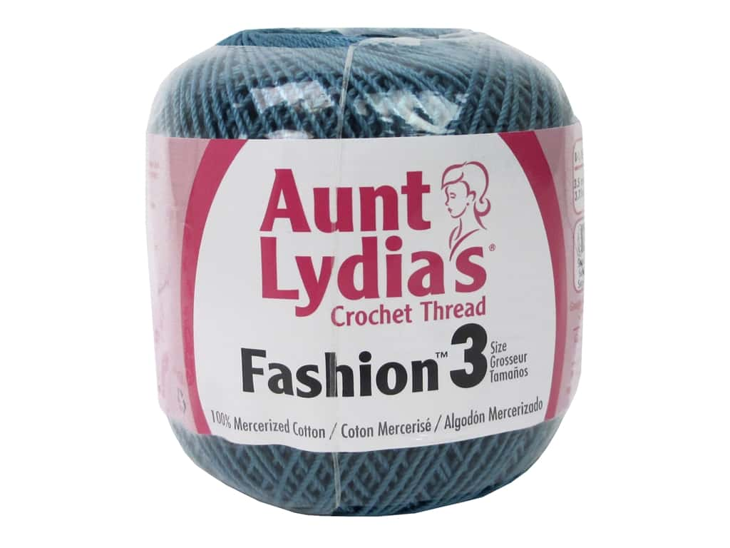 Aunt Lydia's Fashion Crochet Thread Size 3 150 yd. #65 Warm Teal