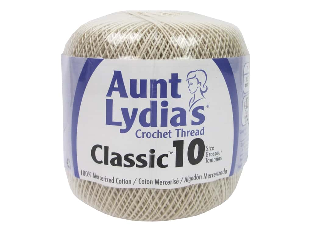 Aunt Lydia's Classic Cotton Crochet Thread - Size 10 - Natural 350 yd.
