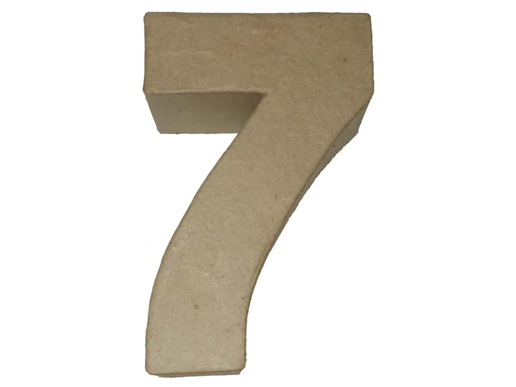 PA Paper Mache 4 in. Numbers 7
