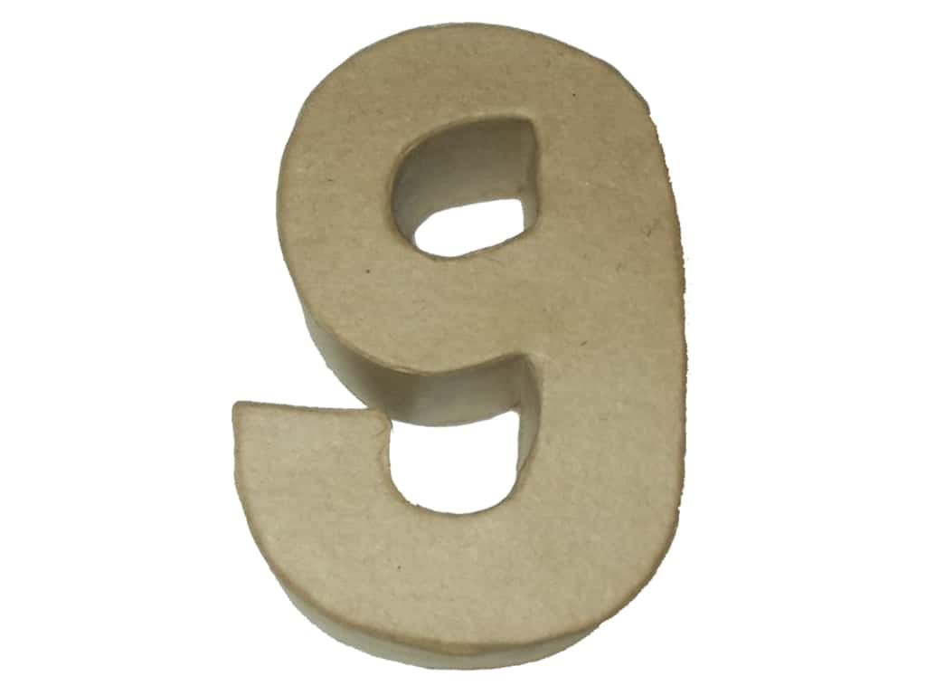 PA Paper Mache 4 in. Numbers 9
