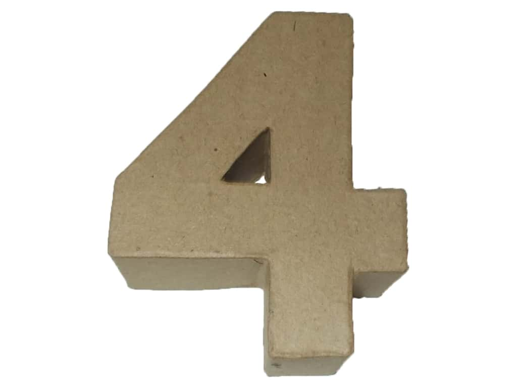 PA Paper Mache 4 in. Numbers 4