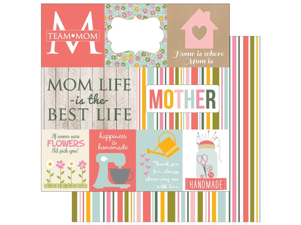 Echo Park 12 x 12 in. Paper Beautiful Mom Journaling Cards (15 sheets)