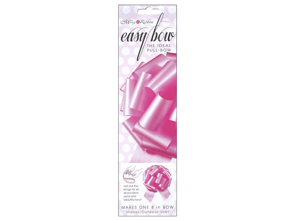 Morex Easy Bow 8 in. Light Pink