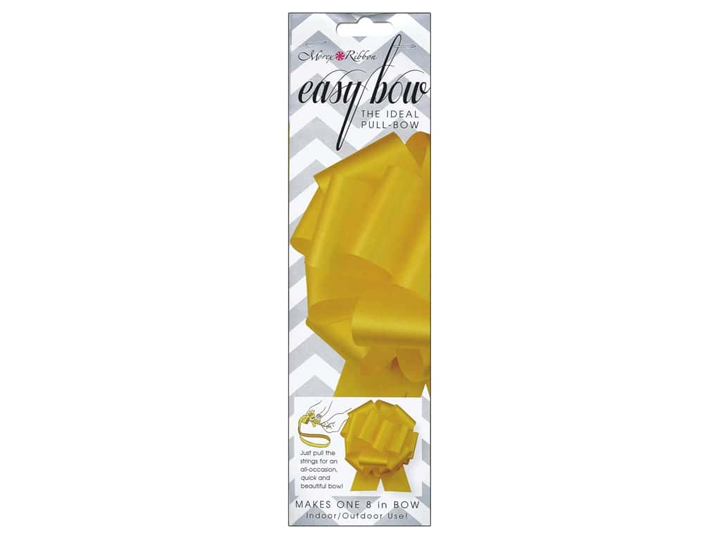 Morex Easy Bow 8 in. Yellow