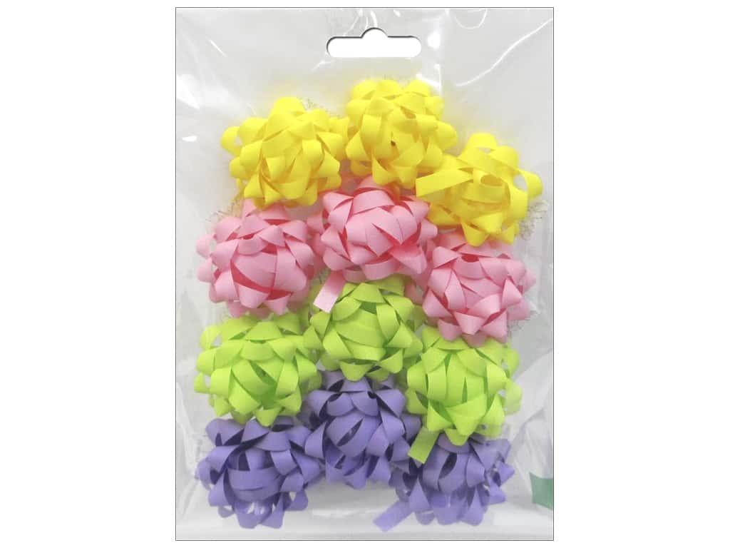 Morex Premade Bow Mini Pastel 12 pc