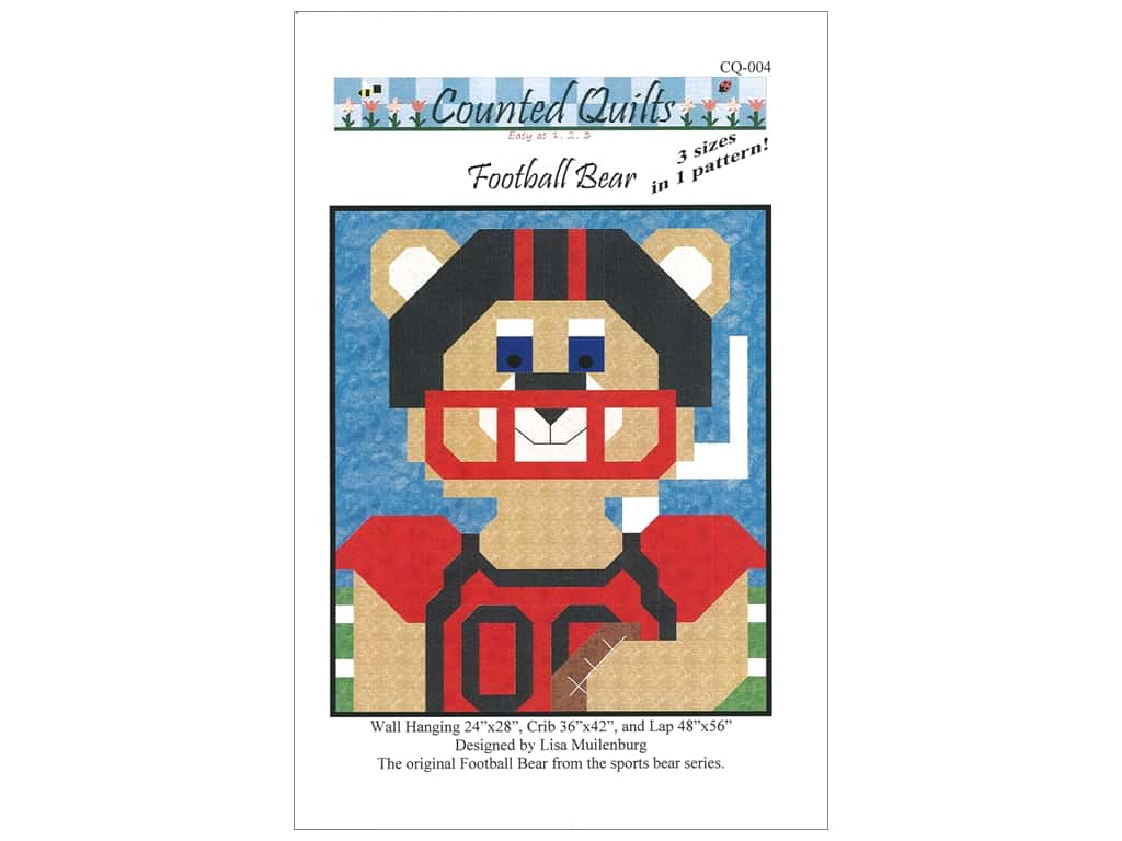 Counted Quilts Football Bear Quilt Pattern