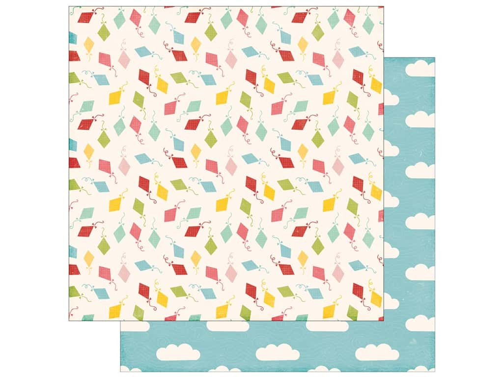 Echo Park 12 x 12 in. Paper Happy Summer Collection Carefree Kites (25 sheets)